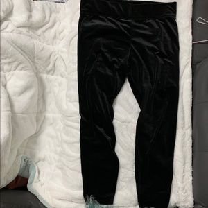 Black velour sweat pants
